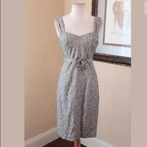 Rebecca Taylor Tweed Belted Tube Sheath Dress 4